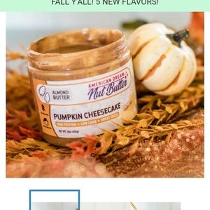 American dream pumpkin cheesecake almond butter